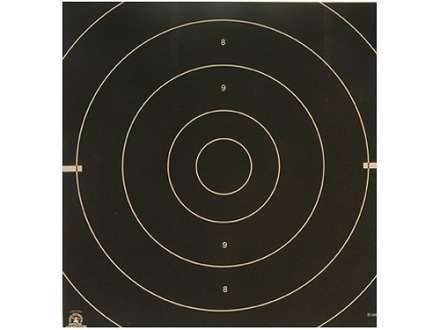 NRA Official International Pistol Targets Repair Center B-38C 25 Yard Rapid Fire Paper Package of 100