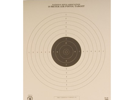NRA Official Air Pistol Target B-40 10 Meter Paper Package of 100