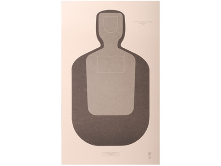 "NRA Official Training and Qualification Target Law Enforcement TQ-20 12"" x 20"" Paper Package of 100"