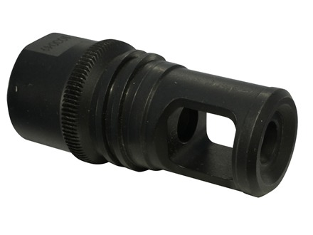 "Advanced Armament Co (AAC) Blackout Muzzle Brake 90-Tooth Ratchet Titan-QD Suppressor Mount 338 Lapua Magnum, 300 Winchester Magnum 3/4""-20 Thread (Barrett 98B) Steel Matte"