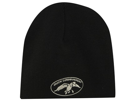 Duck Commander Logo Beanie Cotton Polyester Blend Black