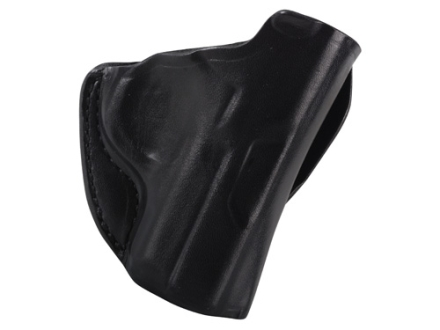 DeSantis Mini Scabbard Outside the Waistband Holster Right Hand Kimber Solo Leather Black