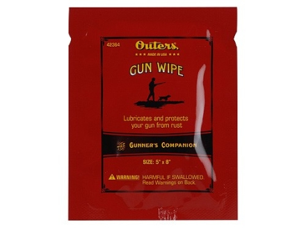Outers Gun Oil Wipes Package of 8