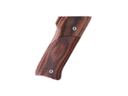 Hogue Fancy Hardwood Grips Ruger Mark II with Left Hand Thumbrest Checkered Rosewood Laminate