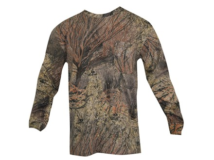 Russell Outdoors Men's Explorer T-Shirt Long Sleeve Cotton Mossy Oak Brush Camo Medium 38-40