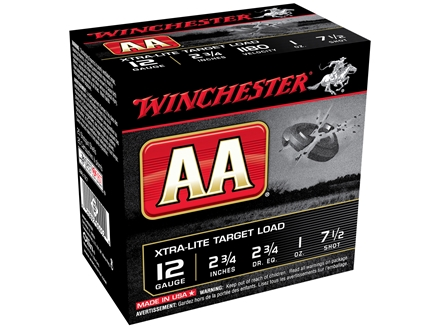 "Winchester AA Xtra-Lite Target Ammunition 12 Gauge 2-3/4"" 1 oz of #7-1/2 Shot"