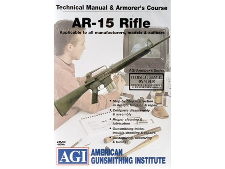 "American Gunsmithing Institute (AGI) Technical Manual & Armorer's Course Video ""AR-15 Rifles"" DVD"