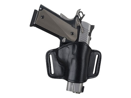 Bianchi 105 Minimalist Holster Right Hand Browning Hi-Power, 1911 Suede Lined Leather Black