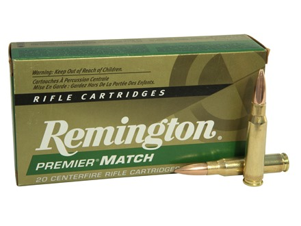 Remington Premier Match Ammunition 308 Winchester 168 Grain Sierra MatchKing Hollow Point Box of 20