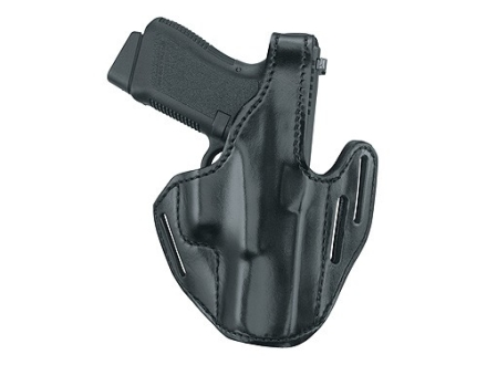 Gould & Goodrich B733 Belt Holster Left Hand Glock 26, 27, 28, 33 Leather Black