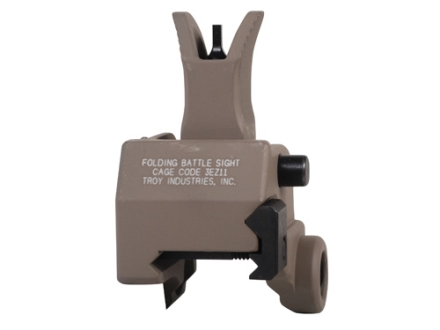 Troy Industries Front Flip-Up Battle Sight M4-Style AR-15 Gas Block Height Aluminum Flat Dark Earth