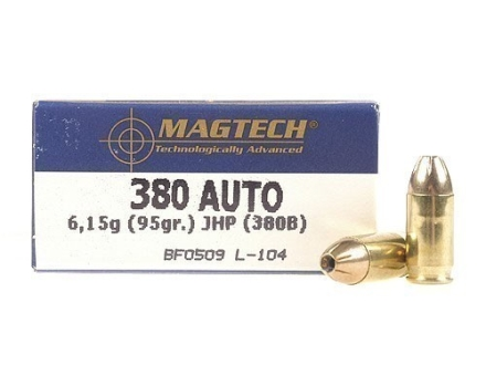 Magtech Sport Ammunition 380 ACP 95 Grain Jacketed Hollow Point