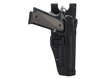 BlackHawk Level 2 Serpa Auto Lock Duty Holster 1911 Government, Commander Polymer Black