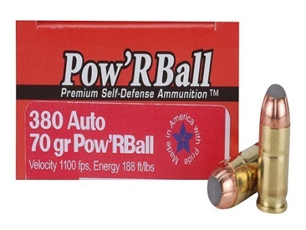Glaser Pow'RBall Ammunition 380 ACP 70 Grain Box of 20