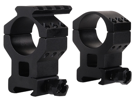 Millett 30mm See-Thru Picatinny-Style Tactical Rings with Accessory Rail Matte