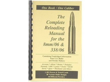 "Loadbooks USA ""8mm-06 Springfield and 338-06 A-Square"" Reloading Manual"