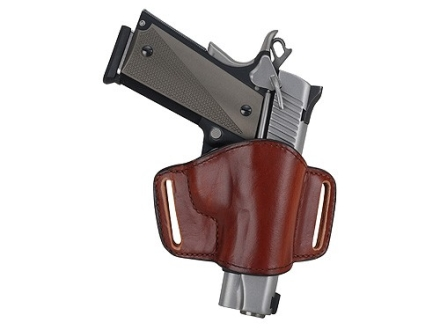 Bianchi 105 Minimalist Holster Right Hand Browning Hi-Power, 1911 Suede Lined Leather Tan
