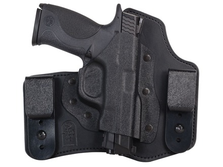 DeSantis Intruder Inside the Waistband Holster Right Hand S&W M&P 9mm Luger, 40 S&W Kydex and Leather Black