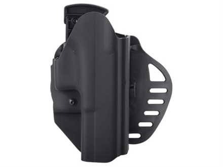 Hogue PowerSpeed Concealed Carry Holster Outside the Waistband (OWB) Right Hand Glock 20, 21, 20SF, 21SF  Polymer Black