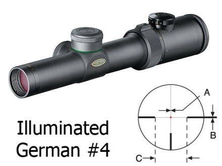 Weaver Classic Extreme Rifle Scope 30mm Tube 1.5-4.5x 24mm Illuminated Dot #4 Reticle Matte