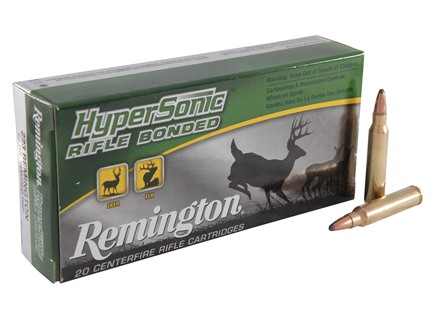 Remington HyperSonic Ammunition 223 Remington 62 Grain Core-Lokt Ultra Bonded Pointed Soft Point Box of 20