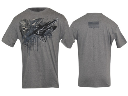 VTAC Skull Short Sleeve T-Shirt Medium Cotton Gray