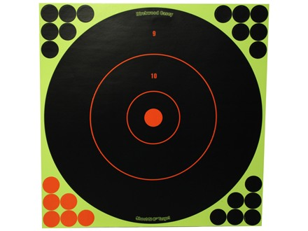 "Birchwood Casey Shoot-N-C Targets 12"" Round Package of 5 with 120 Pasters"
