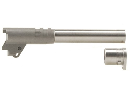 "Kart Easy Fit Para-Clark Ramped Barrel with Bushing 1911 Government 9mm Luger 1 in 16"" Twist 5"" in the White"