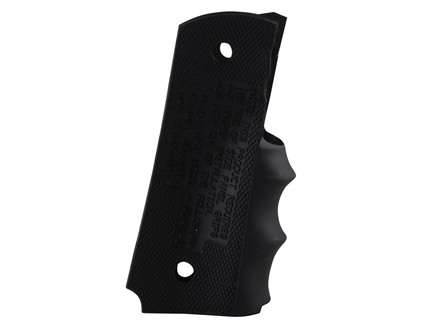 Pearce Grip Rubber Finger Groove Insert Grip 1911 Government, Commander Black