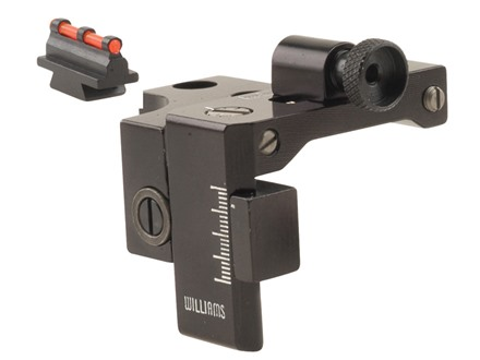 Williams FP-336 Set Receiver Peep Sight with Front Fire Sight Marlin 336, 1894 (Installs at Rear Scope Mounting Holes) Aluminum Black