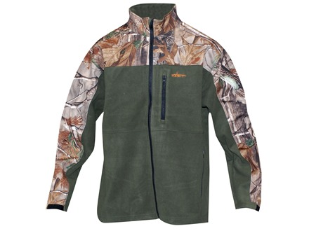 Habit Men's Softshell Fleece Jacket Polyester Olive and Realtree AP Camo Medium 38-40