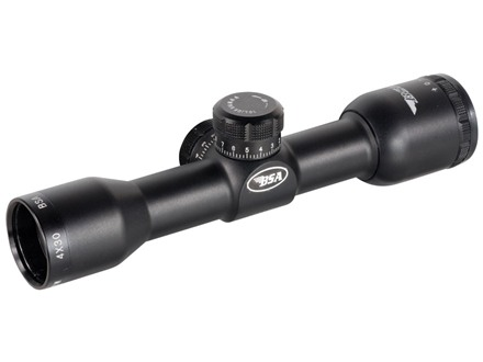 BSA Tactical Weapon Rifle Scope 4x 30mm Mil-Dot Reticle with SKS Mount and AR-15 Carry Handle Mount Matte