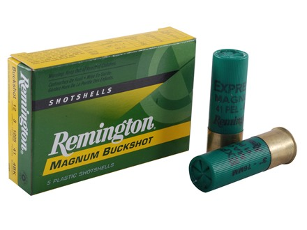 "Remington Express Ammunition 12 Gauge 3"" #4 Buckshot 41 Pellets Box of 5"