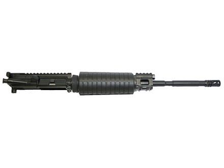 "CMMG AR-15 M4 LEP II A3 Flat-Top Gas Piston Upper Assembly 5.56x45mm NATO 1 in 9"" Twist 16"" Barrel Chrome Moly Matte with M4 Handguard, Flash Hider"