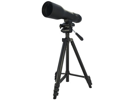 Nikon PROSTAFF 3 Fieldscope Spotting Scope 16-48x 60mm Straight Body with Tripod and Soft Case Black Factory Refurbished