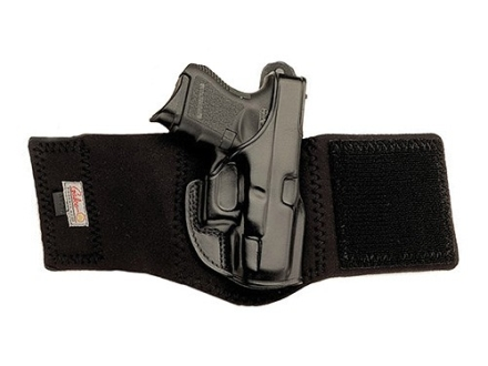 "Galco Ankle Glove Holster Springfield XD Sub-Compact 3"" Leather with Neoprene Leg Band Black"