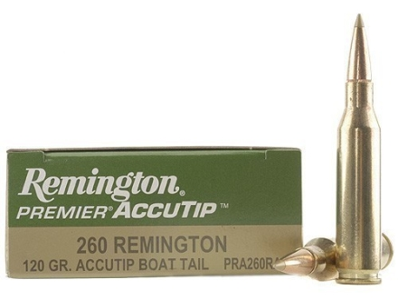 Remington Premier Ammunition 260 Remington 120 Grain AccuTip Boat Tail Box of 20