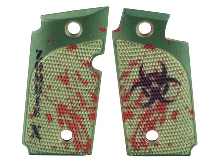 Hogue Grips Sig Sauer P238 Checkered Aluminum Zombie Green