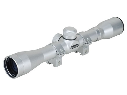 Barska Plinker 22 Rimfire Rifle Scope 4x 32mm 30-30 Reticle Silver