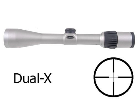 Weaver Grand Slam Rifle Scope 3-10x 40mm Dual-X Reticle Silver