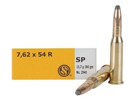 Sellier & Bellot Ammunition 7.62x54mm Rimmed Russian 180 Grain Soft Point Box of 20