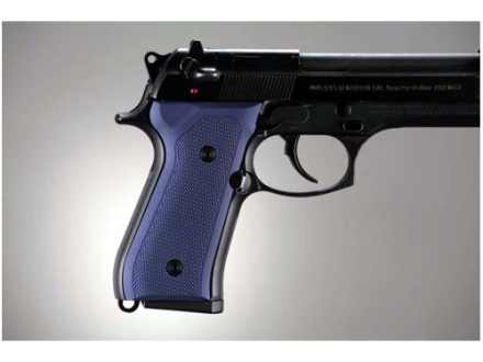 Hogue Extreme Series Grip Beretta 92F, 92FS, 92SB, 96, M9 Checkered Aluminum Matte Blue