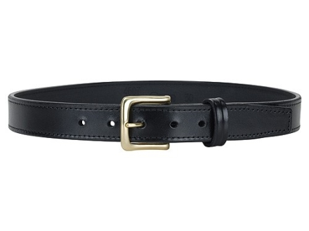 "Gould & Goodrich B190 Dress Belt 1-1/4"" Brass Buckle Leather Black 38"""