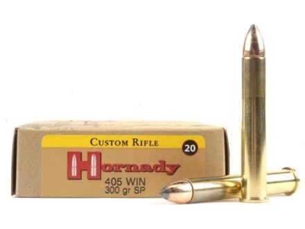 Hornady Custom Ammunition 405 Winchester 300 Grain InterLock Spire Point Box of 20