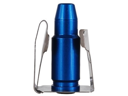 California Competition Works Moon Clip Belt Holder for 8 Shot Full Moon Clips Blue Aluminum Center Steel Silver