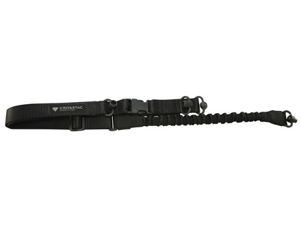 CrossTac Tactical Single/Double Point Sling with Push Button Swivel Nylon Bungee
