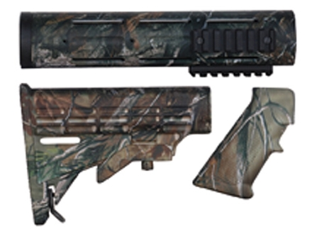 Yankee Hill Machine Carbine Buttstock, Carbine Length Customizable Handguard, Pistol Grip Kit AR-15 Realtree AP Camo