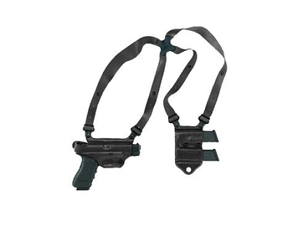 Galco Miami Classic 2 Shoulder Holster System Right Hand Glock 20, 21, 29. 30, 39, 41 Leather Black