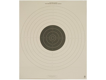 NRA Official International Pistol Target B-17 25/50 Meter Slow Fire Paper Package of 100