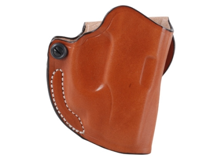 DeSantis Mini Scabbard Outside the Waistband Holster Right Hand Ruger LC9 Crimson Trace LG412 Laser Leather Tan